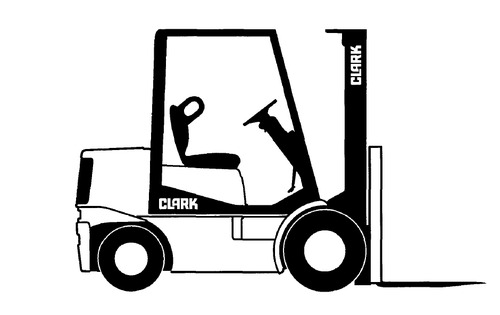 Clark Sm 606 Gpx 35  40  50e Forklift Service Repair Manual